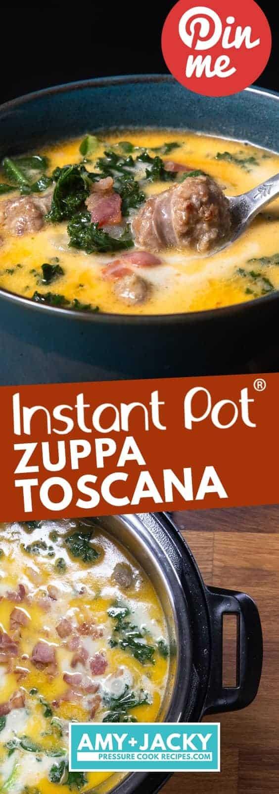 Instant Pot Zuppa Toscana Recipe | Pressure Cooker Zuppa Toscana Soup | Instant Pot Sausage Kale Potato Soup | Instapot Zuppa Toscana | Instant Pot Kale | Instant Pot Soup | Pressure Cooker Soup | Instant Pot Recipes #instantpot #pressurecooker #soup #easy #recipes