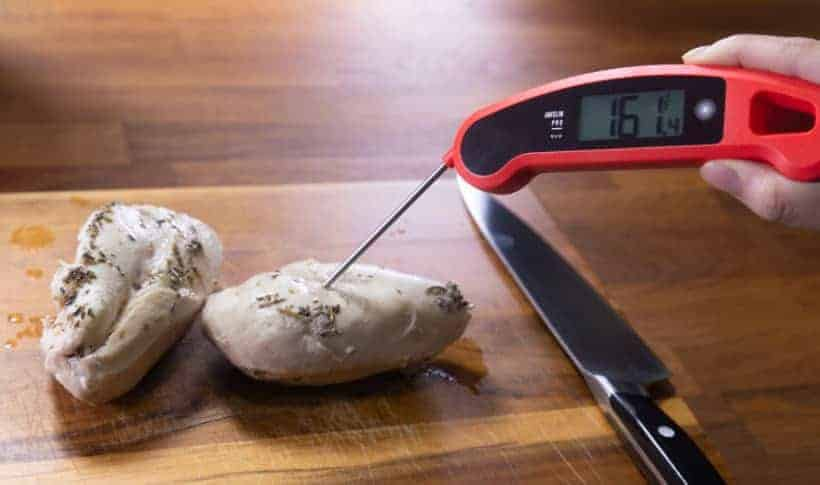 Instant Pot Frozen Chicken Breast | Pressure Cooker Frozen Chicken Breast: measure chicken breasts' internal temperature with food thermometer