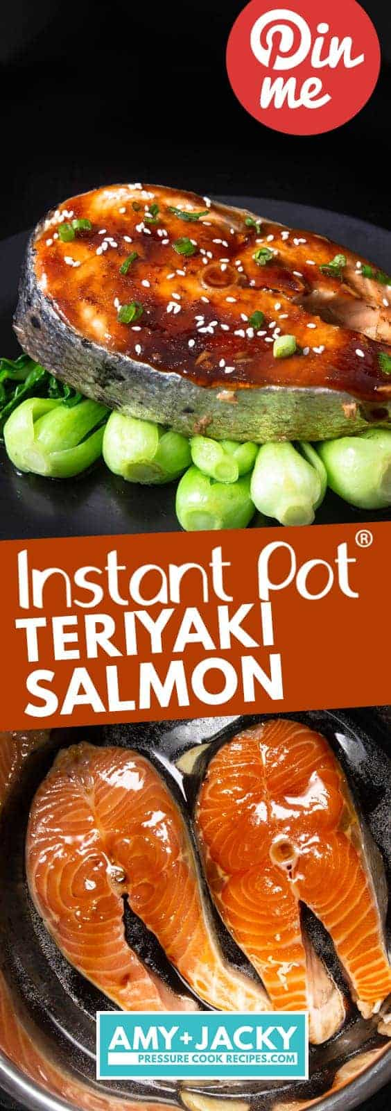 Instant Pot Teriyaki Salmon | Instant Pot Salmon | Instant Pot Fish | Instapot Teriyaki Salmon | Pressure Cooker Teriyaki Salmon | Pressure Cooker Salmon | Pressure Cooker Fish | Instant Pot Recipes #instantpot #pressurecooker #fish #recipes