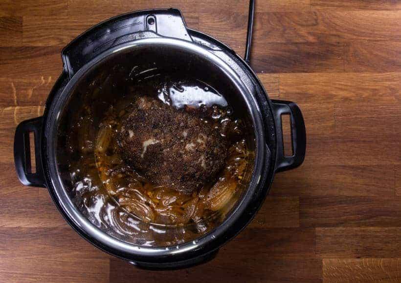 Instant Pot Brisket | Pressure Cooker Beef Brisket: pressure cooked bbq brisket in Instant Pot