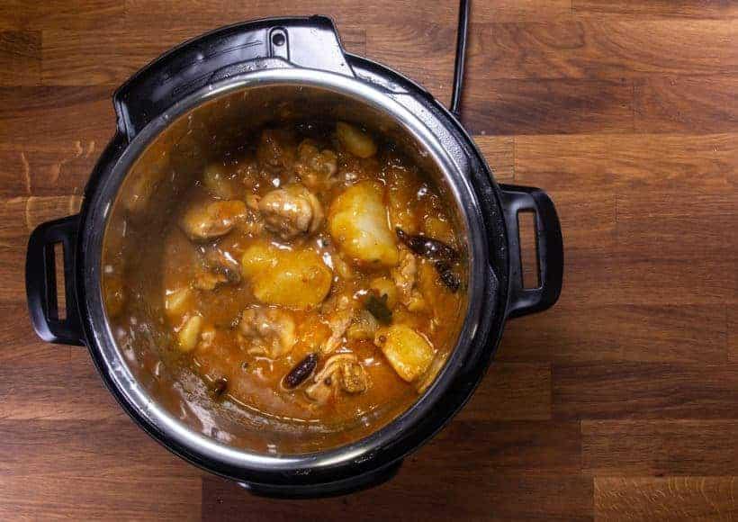 Instant Pot Chinese Chicken Stew | Instant Pot Da Pan Ji: thicken chicken stew sauce
