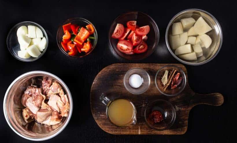 Instant Pot Chinese Chicken Stew | Instant Pot Da Pan Ji | Pressure Cooker Chicken Stew Recipe Ingredients