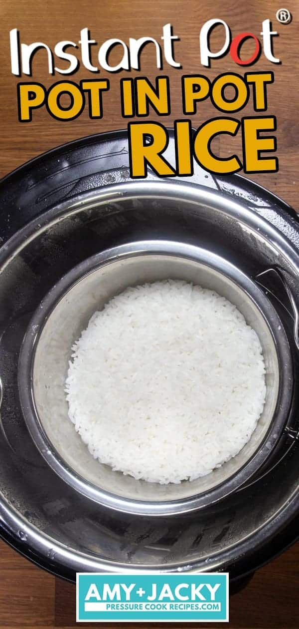 Instant Pot Pot in Pot Rice | Instant Pot Rice | Pressure Cooker Rice | Instant Pot Jasmine Rice | Instant Pot White Rice | Instant Pot Recipes | Instant Pot Side Dish | Pressure Cooker Jasmine Rice | How to cook rice #instantpot #recipes #rice #side