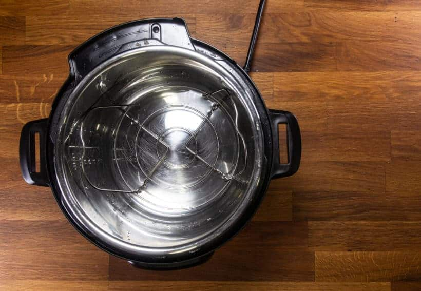 Instant Pot Pot in Pot Rice: add Instant Pot Trivet in Instant Pot Pressure Cooker