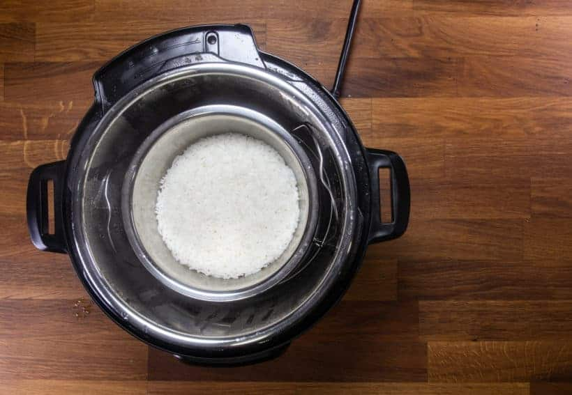 How to cook Instant Pot Rice using Pot-in-Pot method
