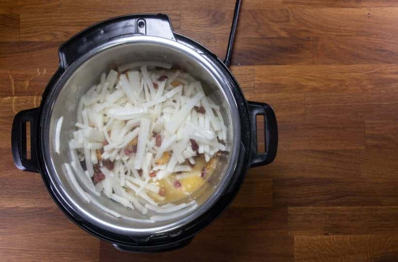 Instant Pot Turnip Cake: cook turnip in Instant Pot Pressure Cooker