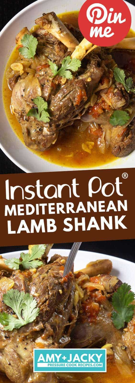 Instant Pot Lamb Shank | Pressure Cooker Lamb Shanks | How to cook lamb shanks | Lamb Shank Recipe | Instant Pot Lamb Recipes | Instant Pot Mediterranean Recipes | Healthy Instant Pot Recipes #recipes #instantpot #lamb #easy #healthy