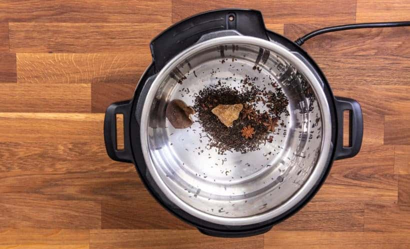 Instant Pot Chinese Tea Eggs: add pu-erh tea leaves and tea master stock ingredients in Instant Pot Pressure Cooker #instantpot #recipe